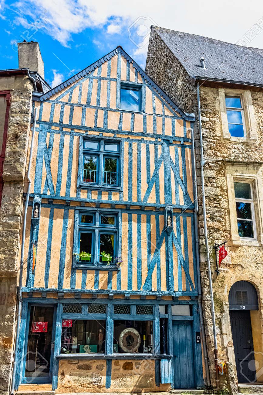 Architecte Le Mans vintage architecture of old town in le mans, maine, france