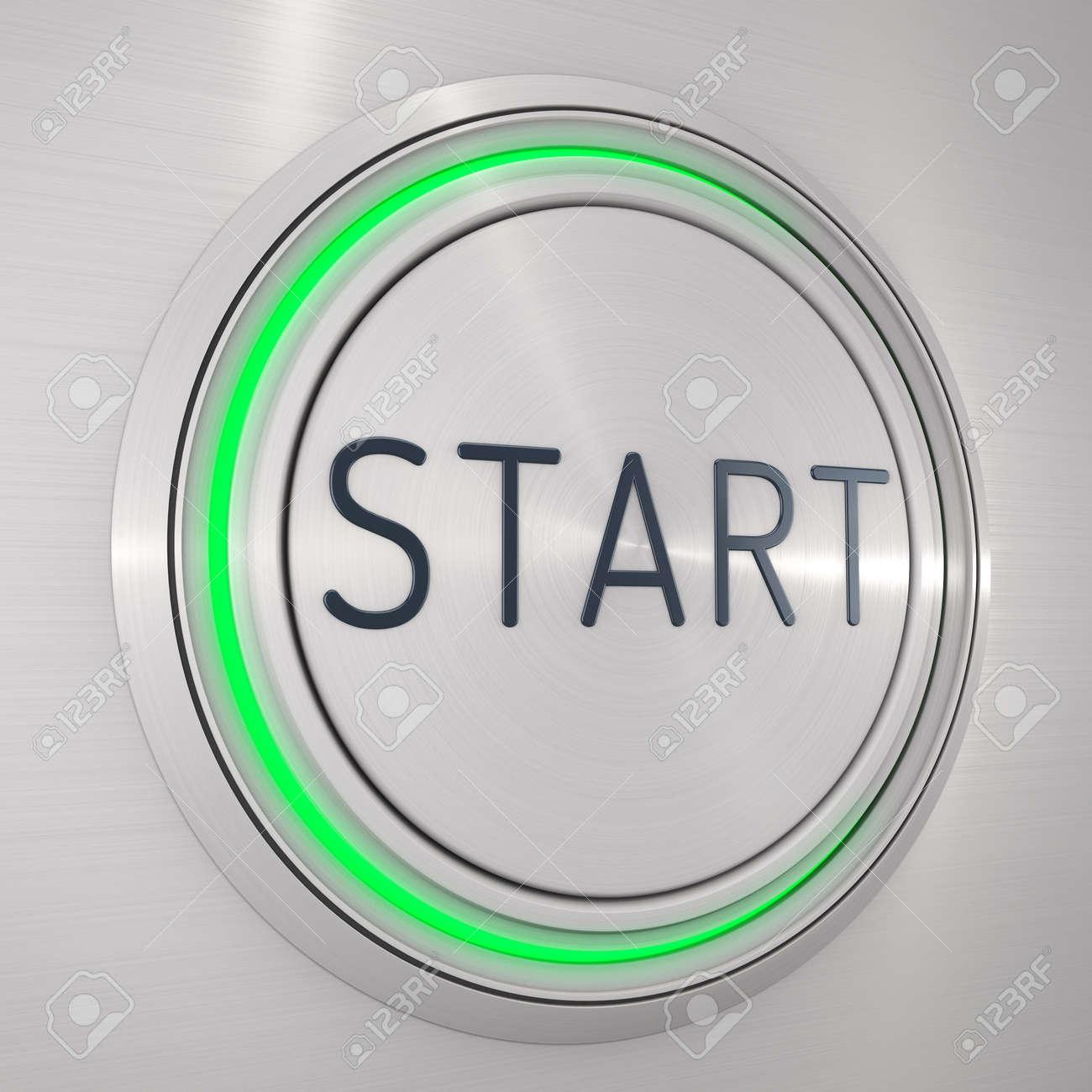 steel start button icon