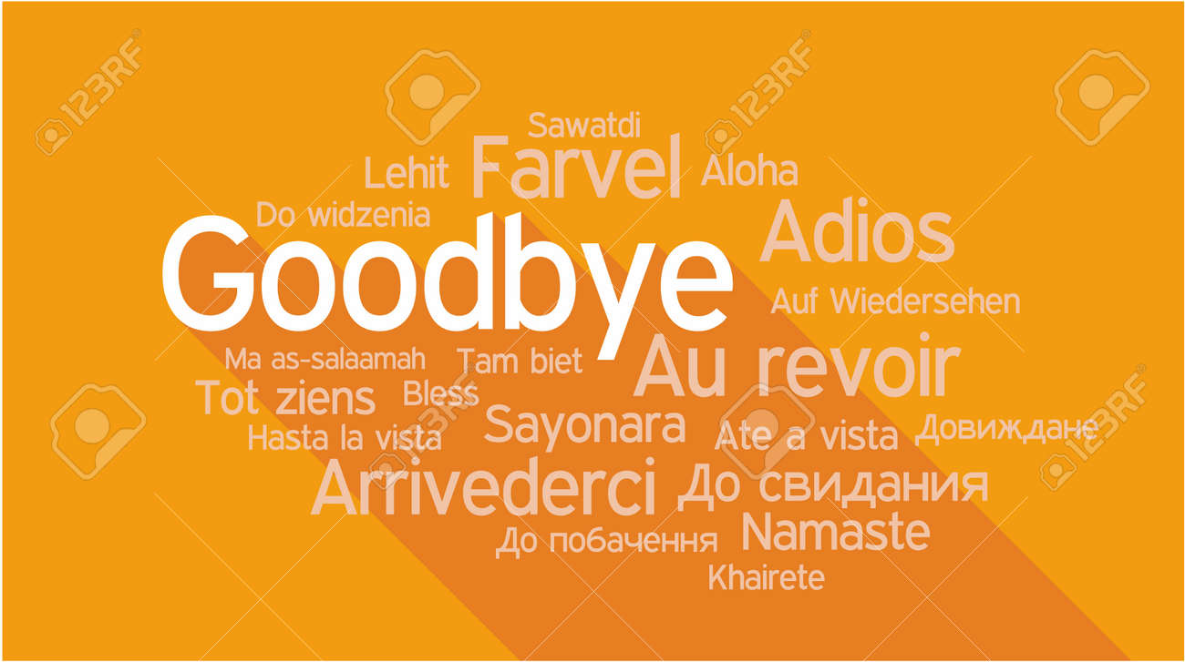 GOODBYE in different languages, words collage vector illustration. - 42854319