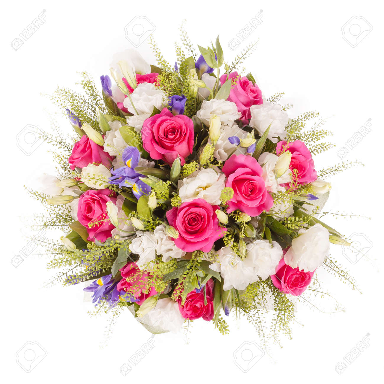 Bouquet of flowers top view isolated on white stock photo picture bouquet of flowers top view isolated on white stock photo 44114190 izmirmasajfo