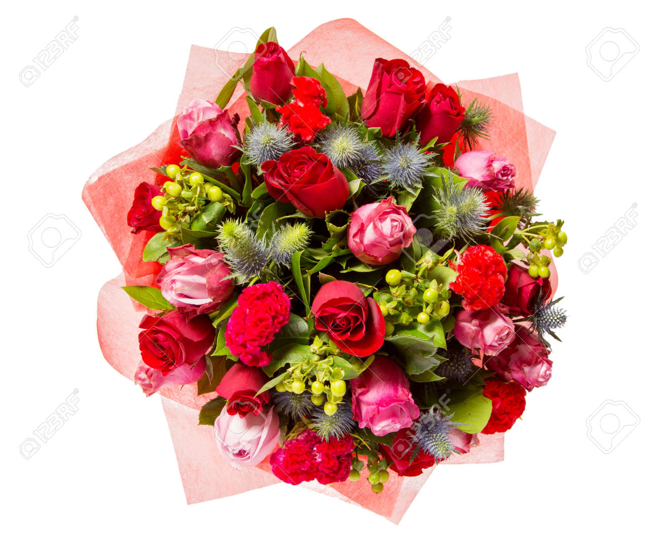 Bunch of flowers stock photos royalty free bunch of flowers images bouquet of flowers top view isolated on white stock photo izmirmasajfo