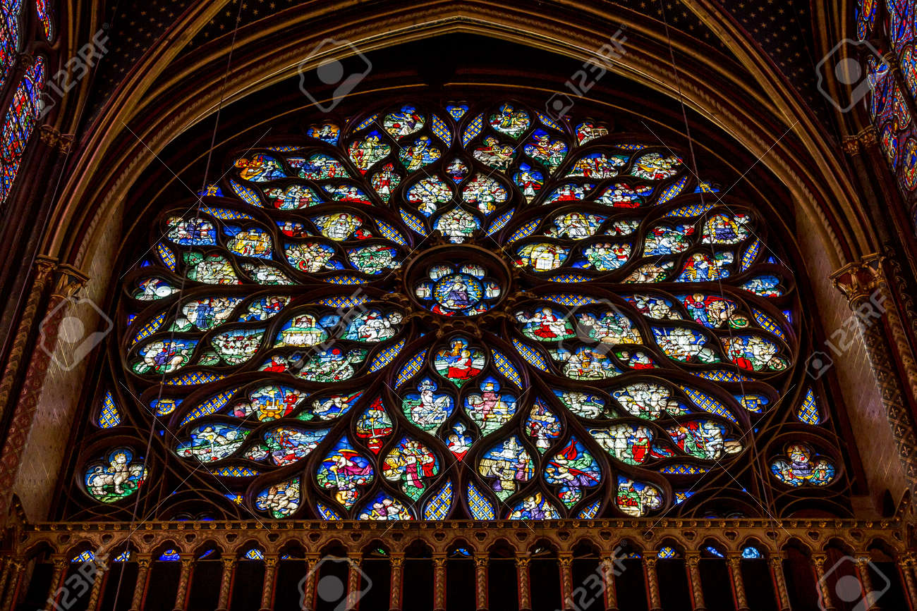 Paris Francia 1 De Abril De 2017 La Santa Capilla De Sainte