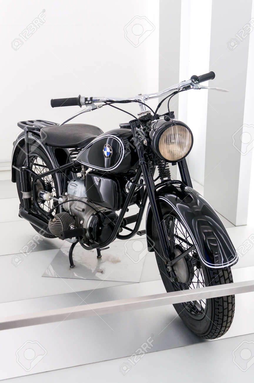 Munich Germany March 10 2016 Motorcycle In Museum Bmw Welt Stock Photo Picture And Royalty Free Image Image 88518060