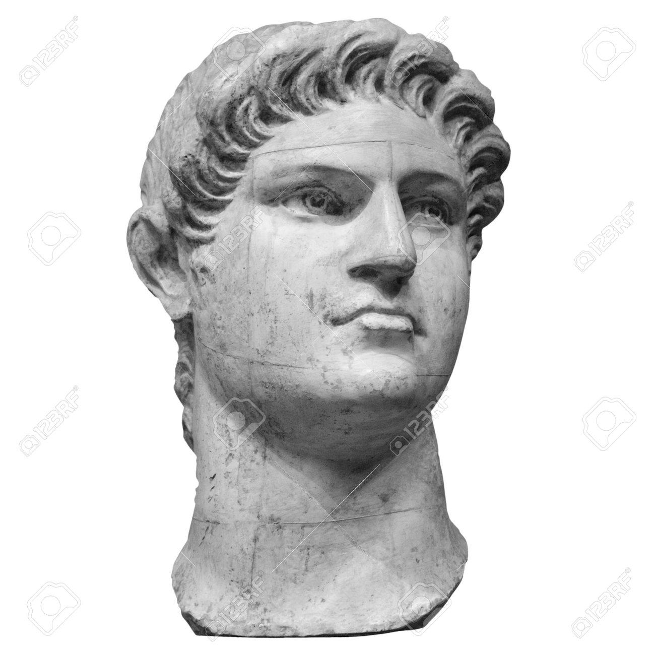 Portrait of roman emperor Nero Claudius Caesar Augustus Germanicus