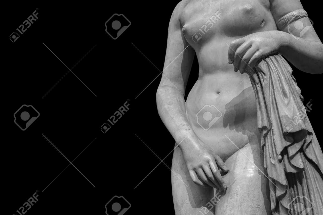 Ancient marble statue of a woman. Antique female sculpture. - 167665545