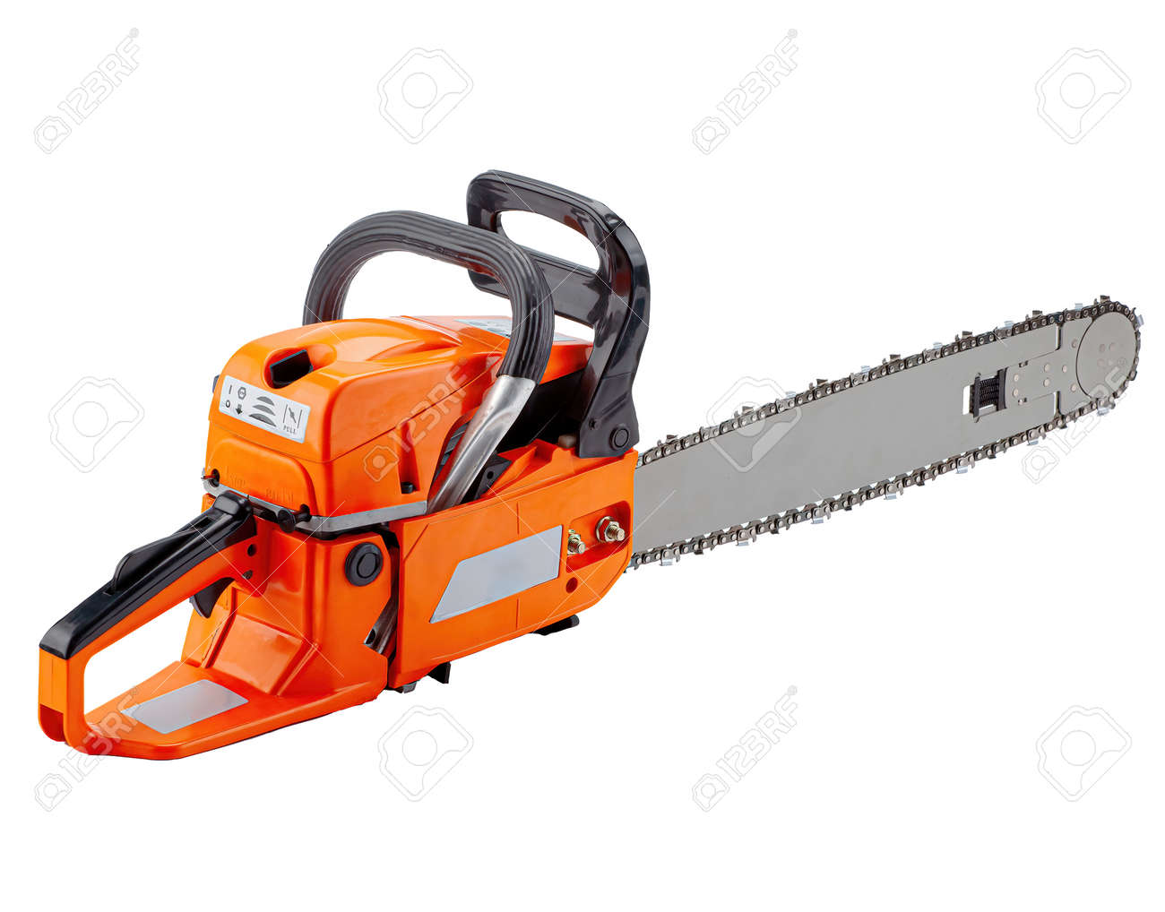 Chainsaw isolated on white background - 169111915