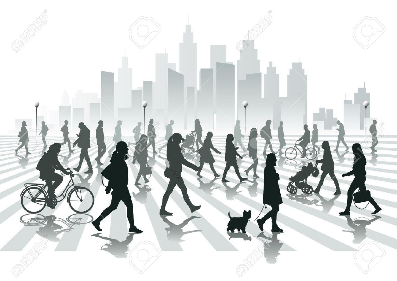 Walking people in city - 25471317