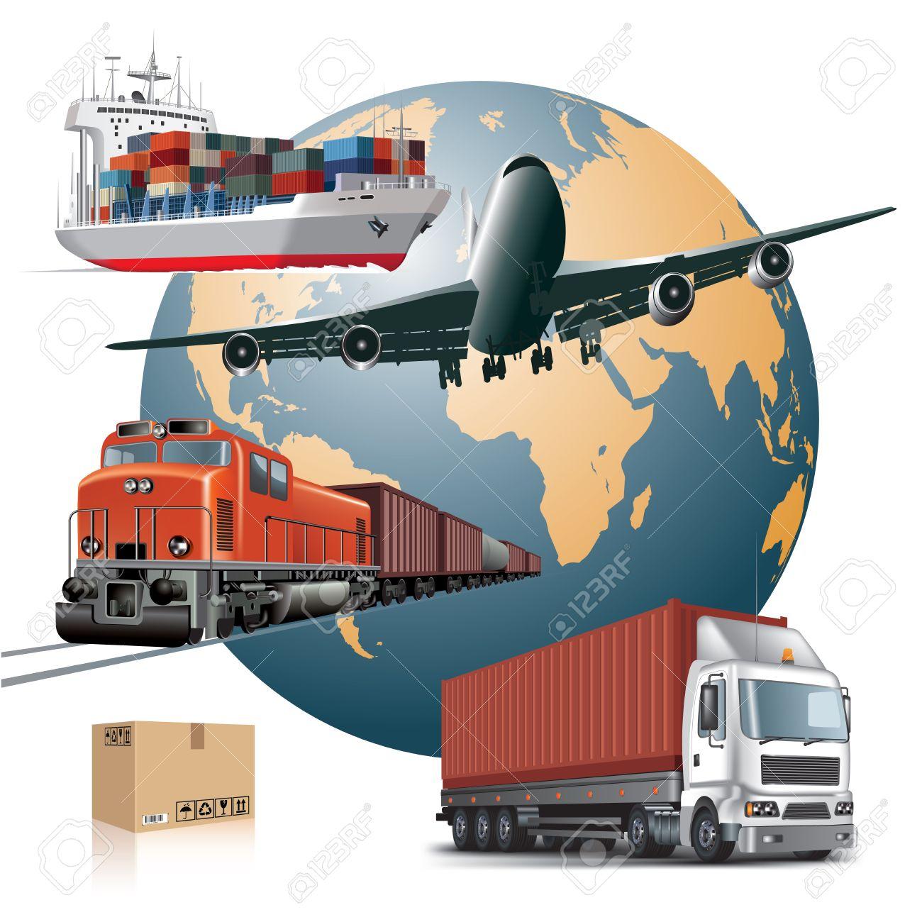 World wide cargo transport concept Vector illustration - 29457885