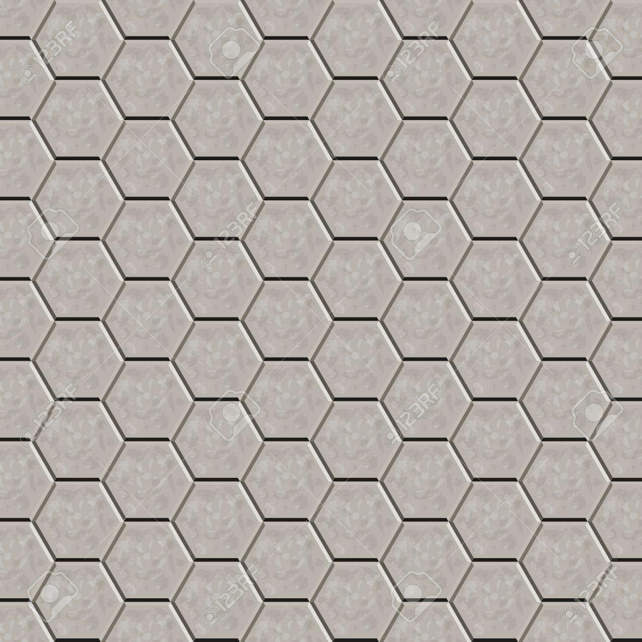 hexagon tile floor amand