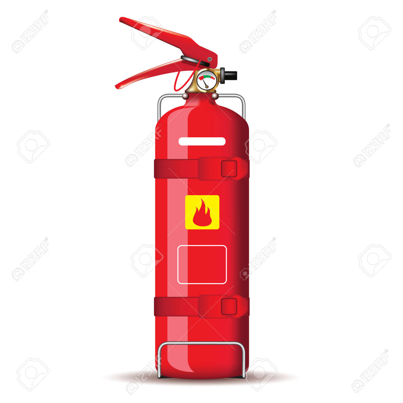 Red fire extinguisher isolated on white. Vector illustration - 44229163