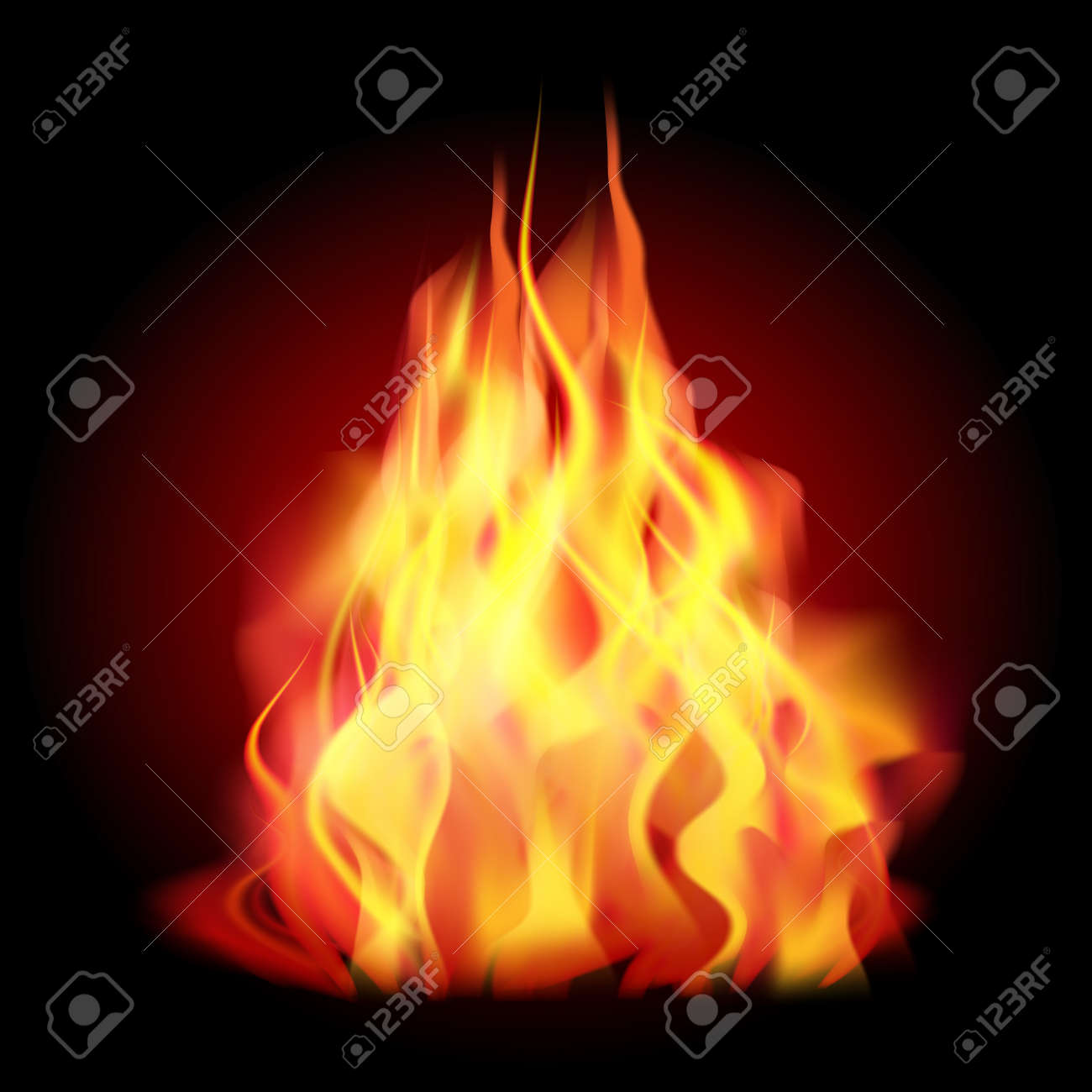 Flames Of Fire As The Background Vector Illustration Royalty Free Cliparts Vectors And Stock Illustration Image 44229165