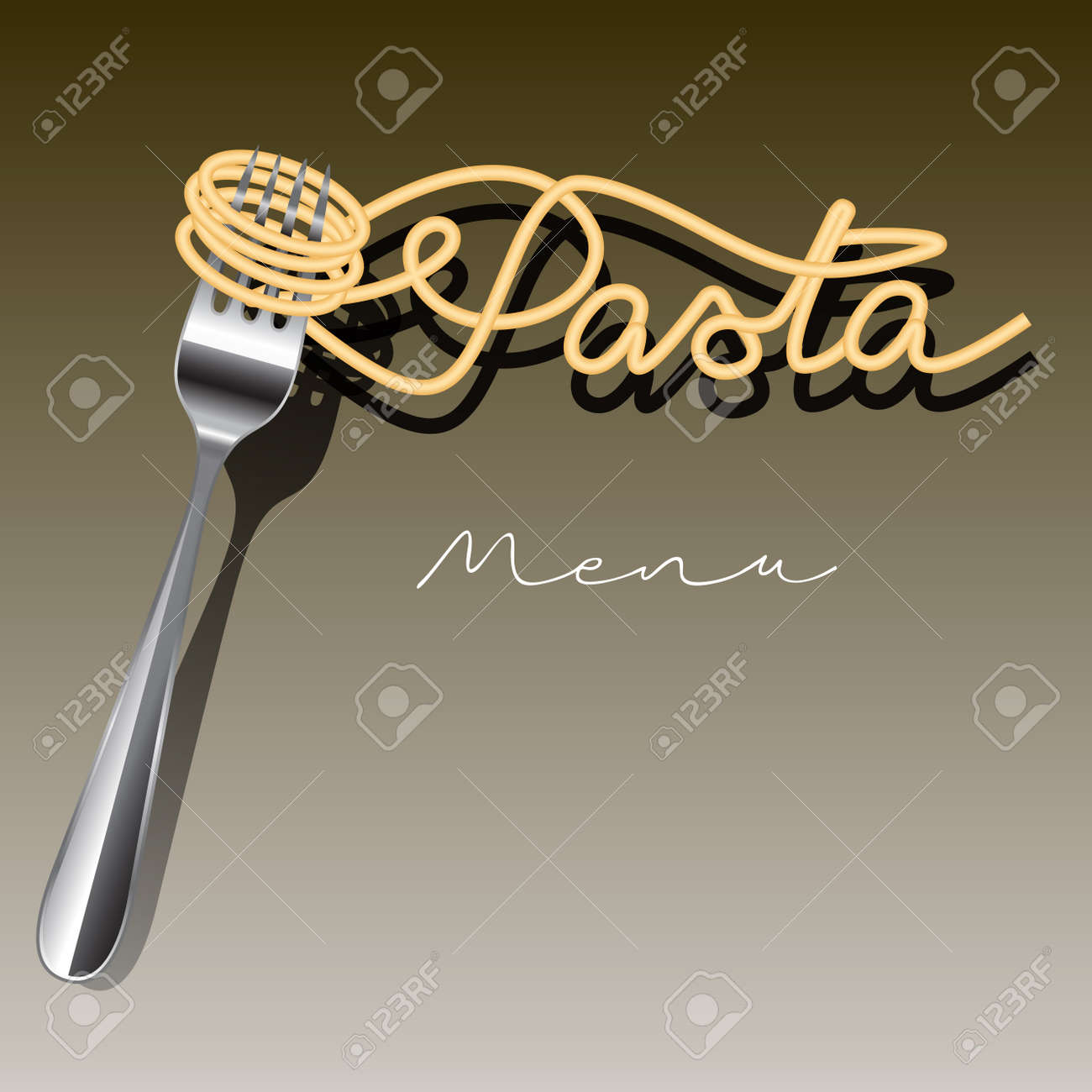 Pasta menu template isolated on background. Vector illustration - 47683877