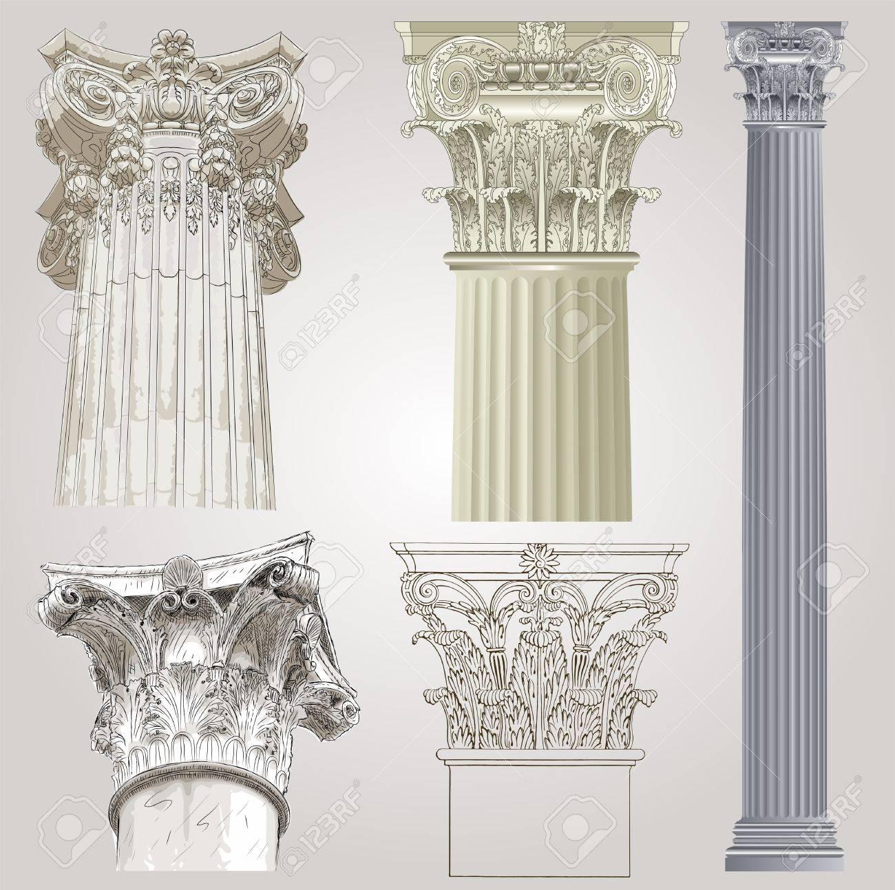Columns set Stock Vector - 11859026