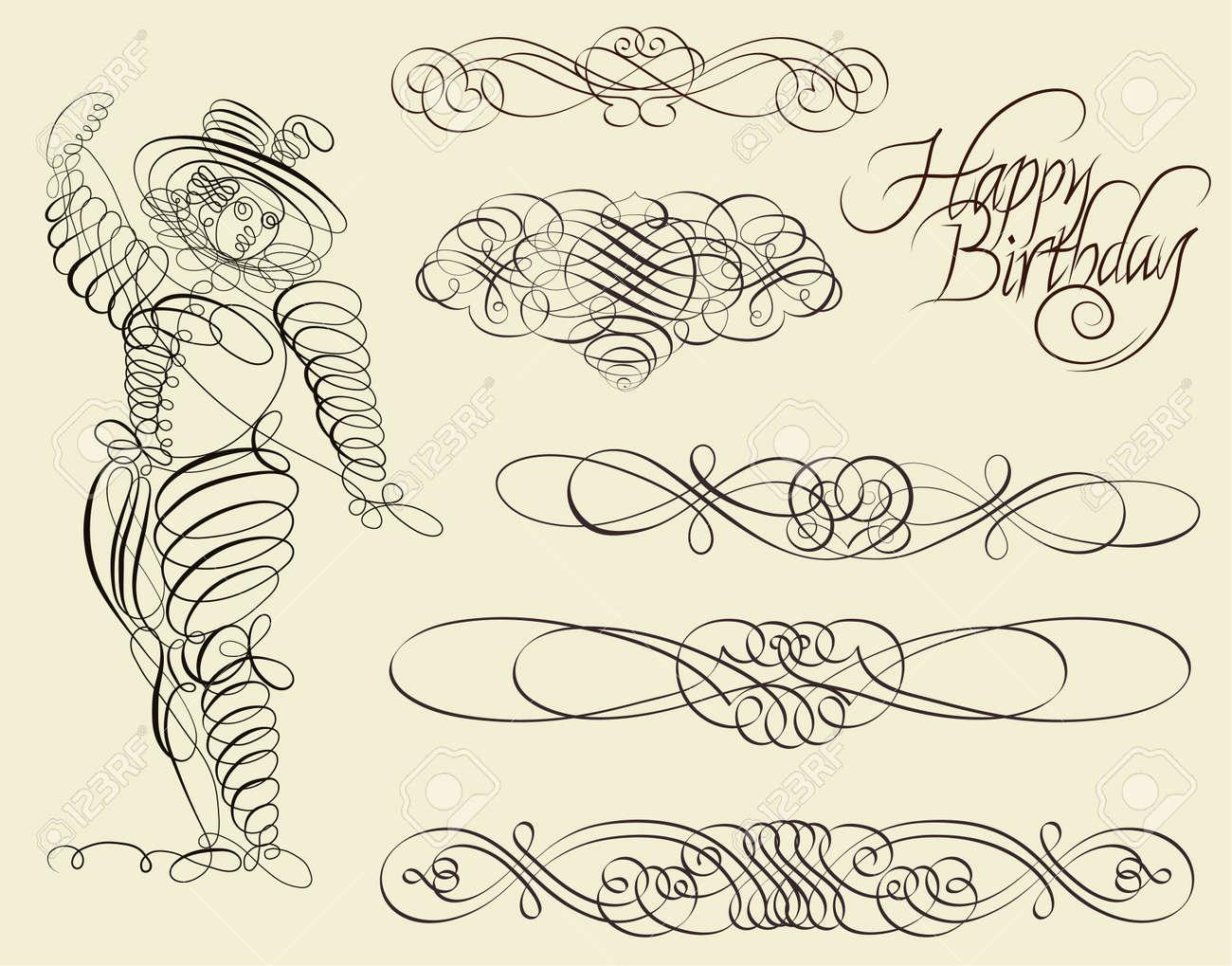 Calligraphic and ornamental designs Stock Vector - 11858415