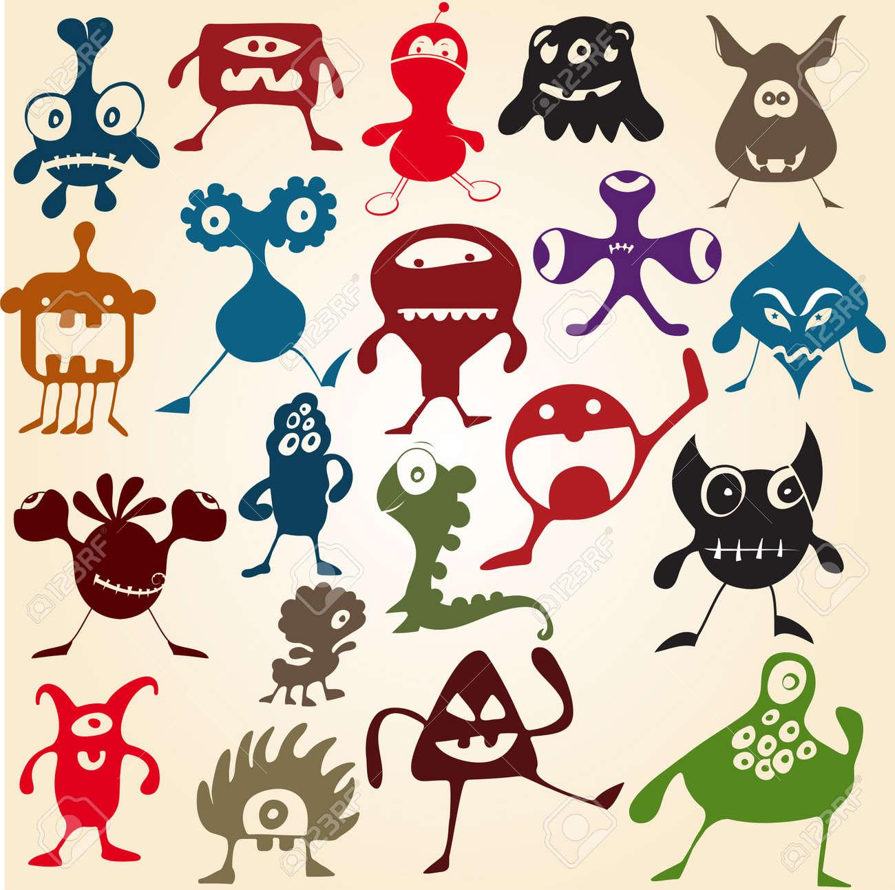 Doodle monsters Stock Vector - 11858401