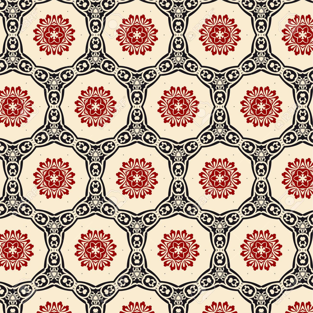 レトロな壁紙のイラスト素材 ベクタ Image 11951075