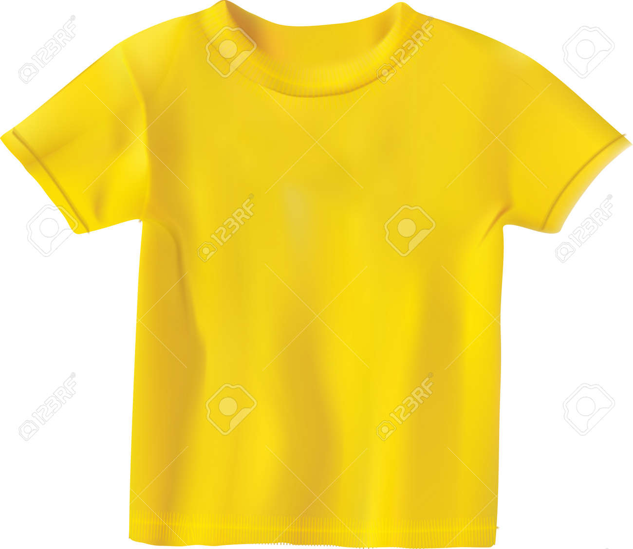 Yellow T-shirt Design Template Royalty Free Cliparts, Vectors, And ...