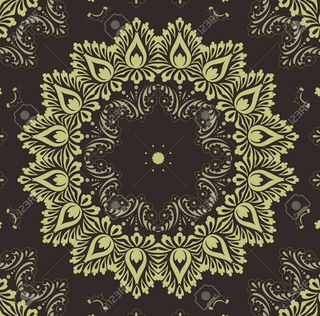 retro wallpaper Stock Vector - 12134366