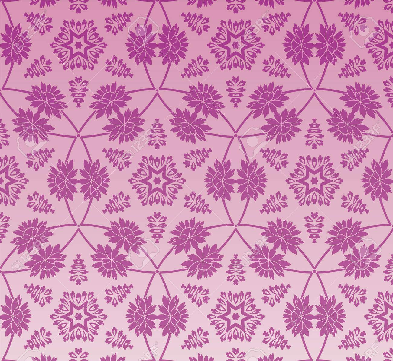 retro wallpaper Stock Vector - 12134359