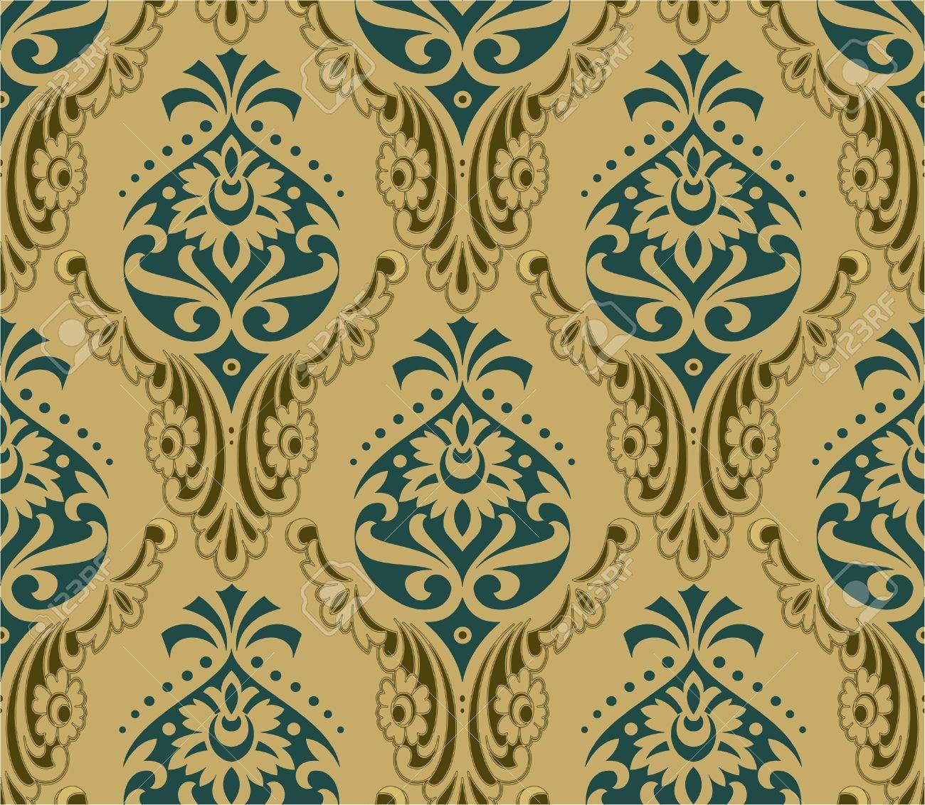 レトロな壁紙のイラスト素材 ベクタ Image 12403721