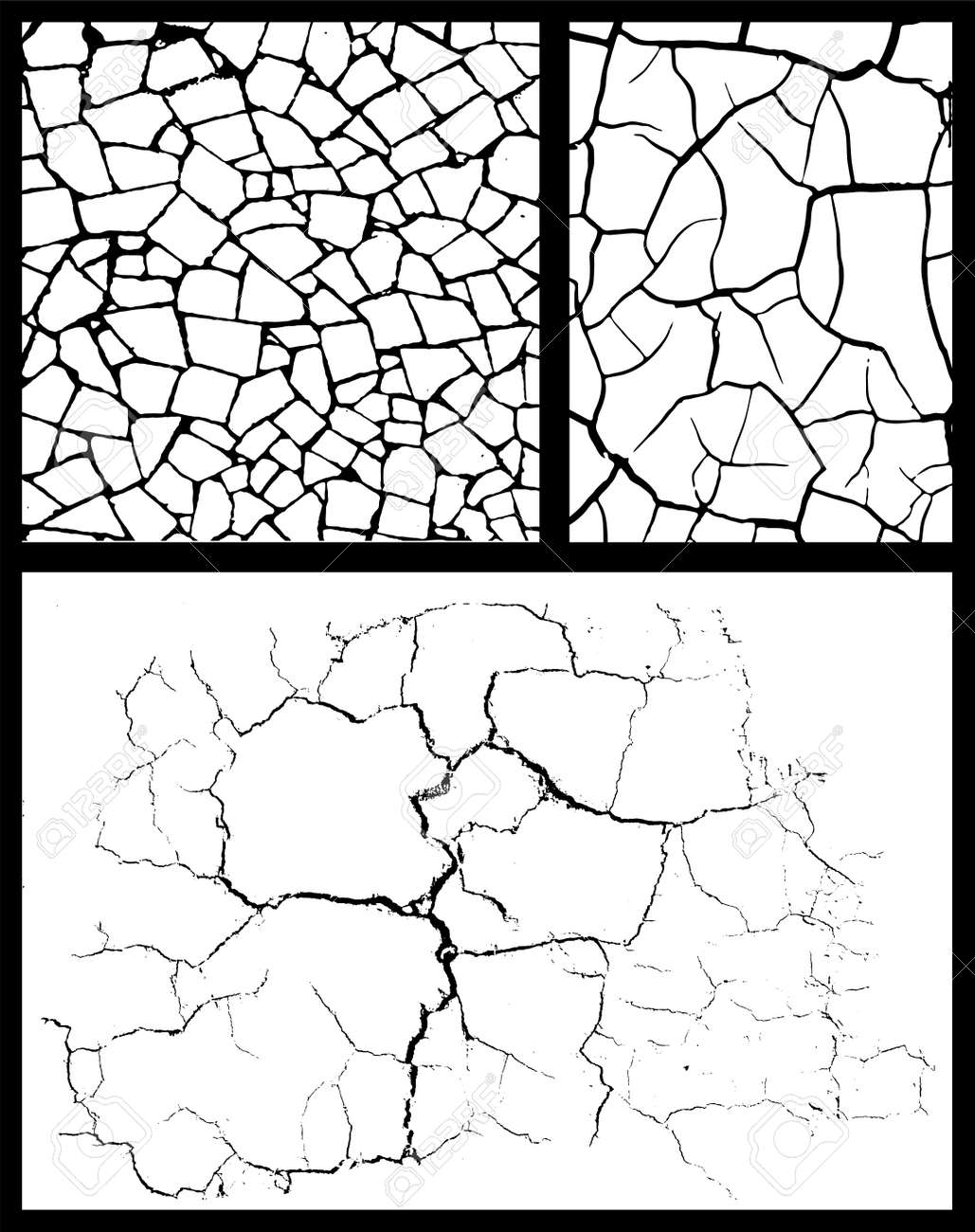 cracked background set Stock Vector - 12403736
