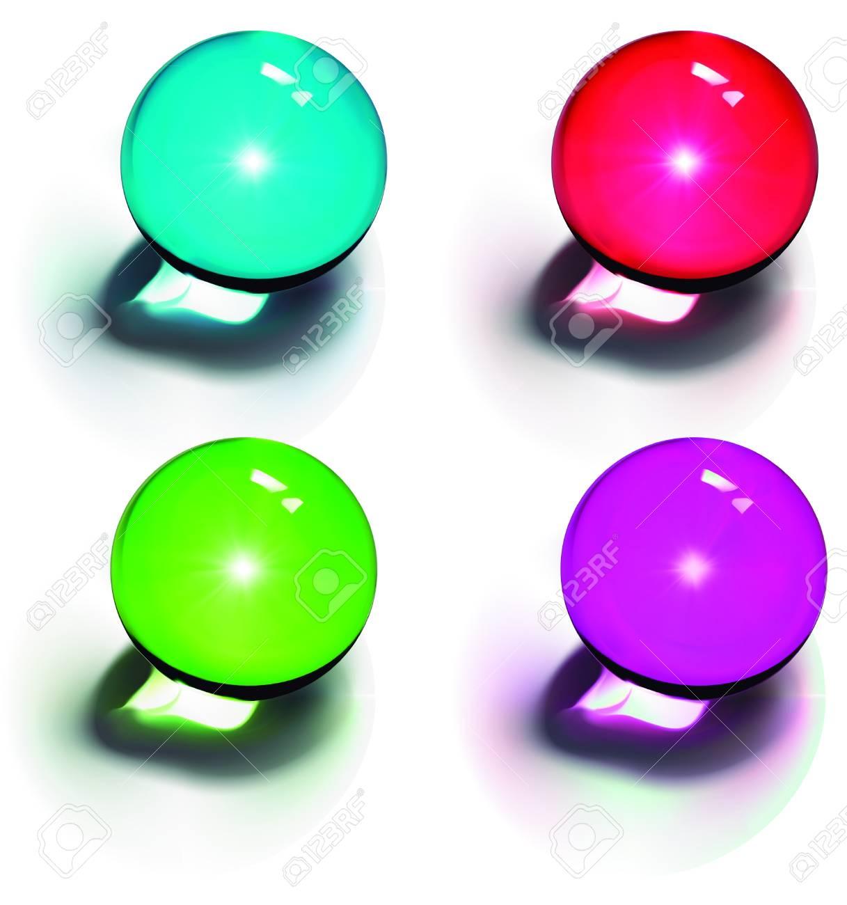 Vector Crystal Balls Stock Vector - 12493782