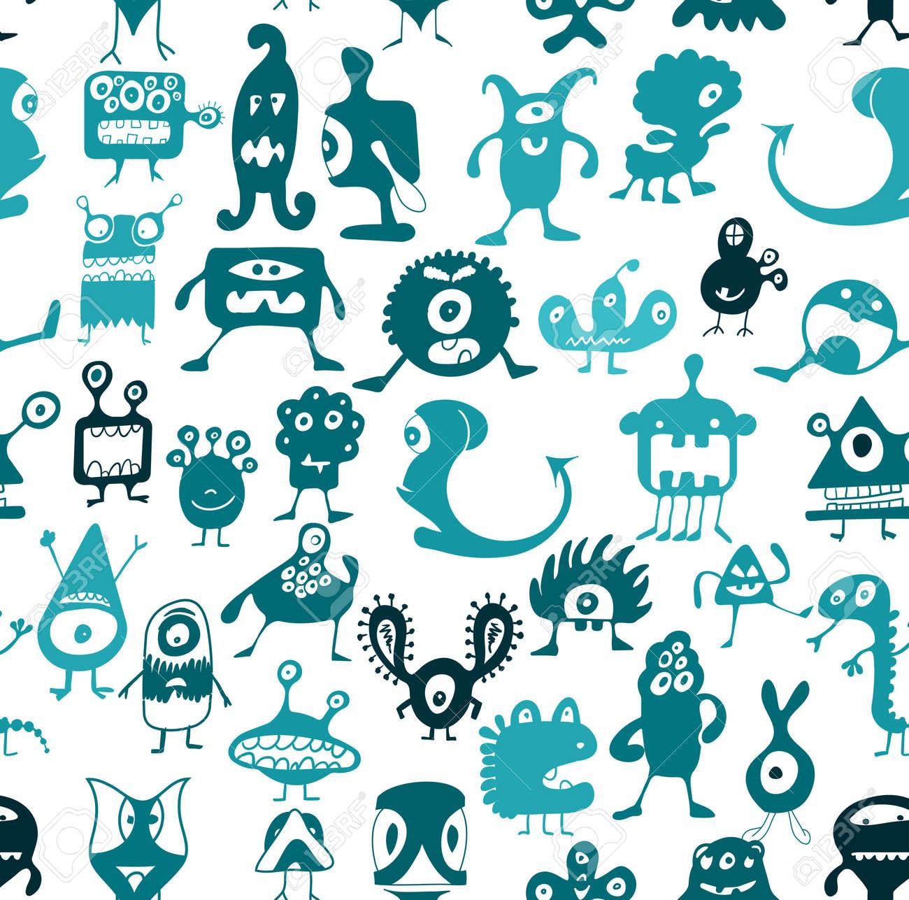 Doodle monsters Stock Vector - 12900751