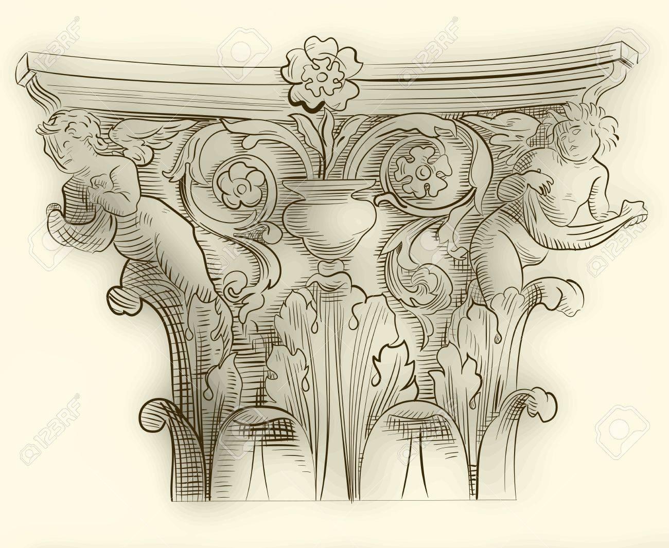 Classic column sketch Stock Vector - 13312835