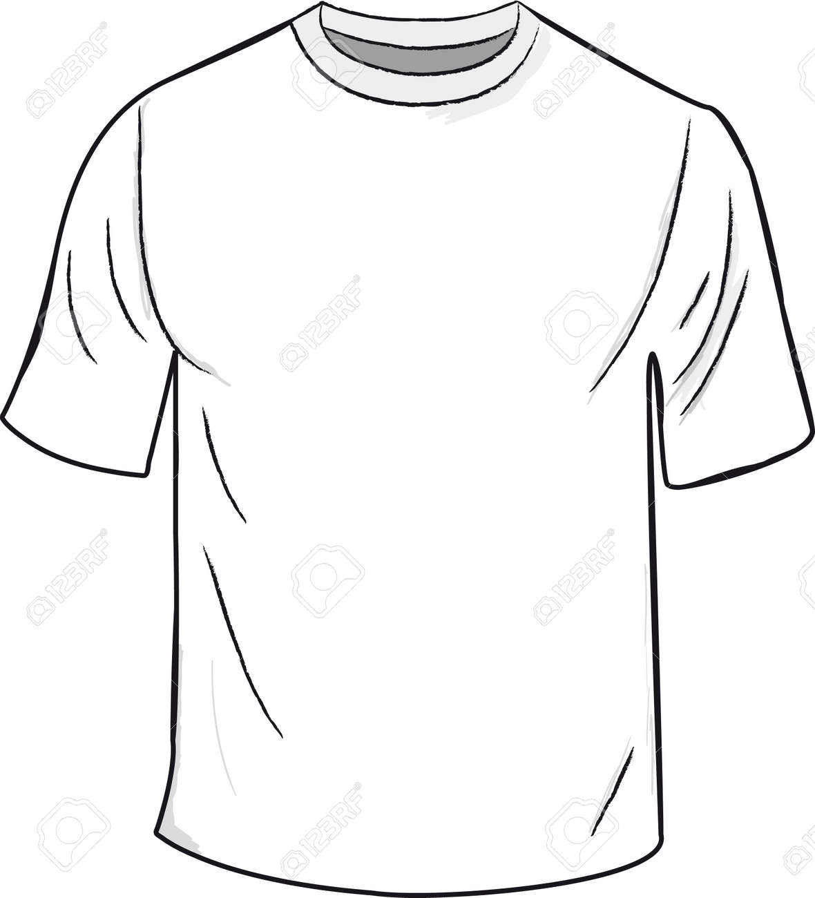 White T-shirt Design Template Royalty Free Cliparts, Vectors, And ...
