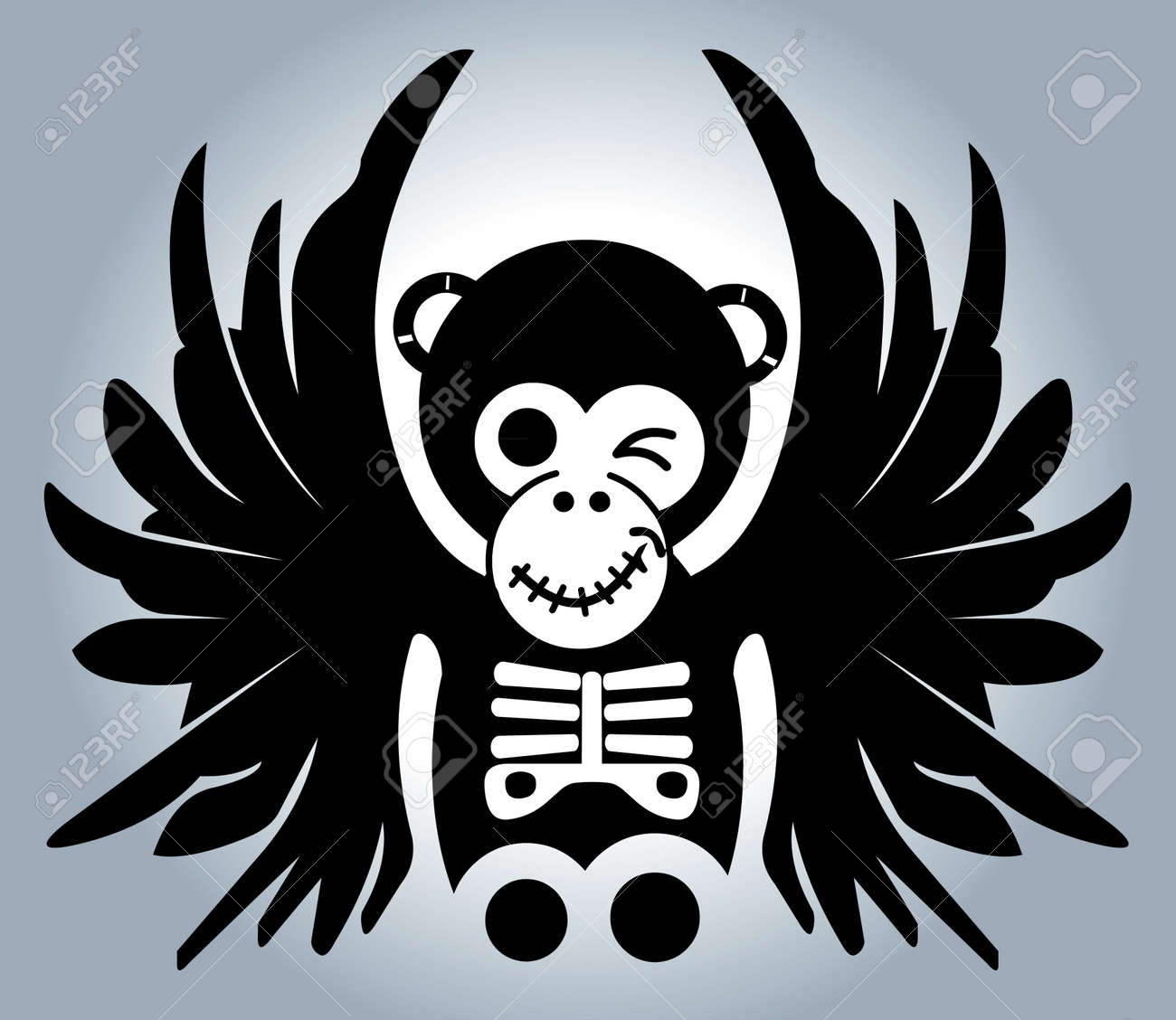 monkey with wings - illustration Stock Vector - 14286319