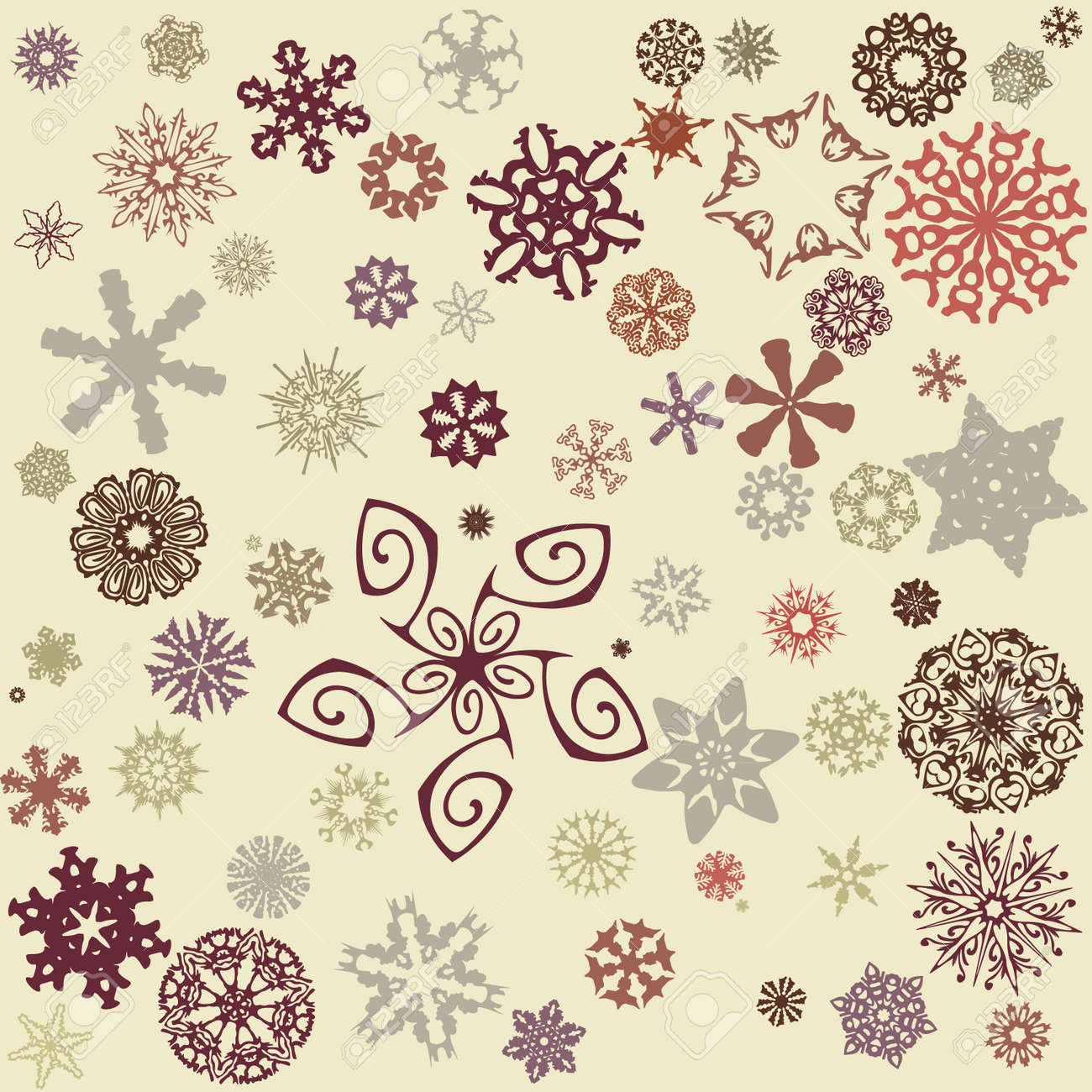 snowflakes background Stock Vector - 14419395