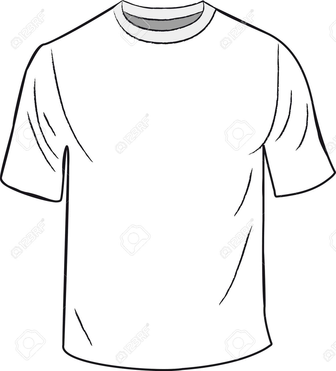 White Tshirt Design Template Royalty Free Cliparts Vectors And - T shirt artwork template