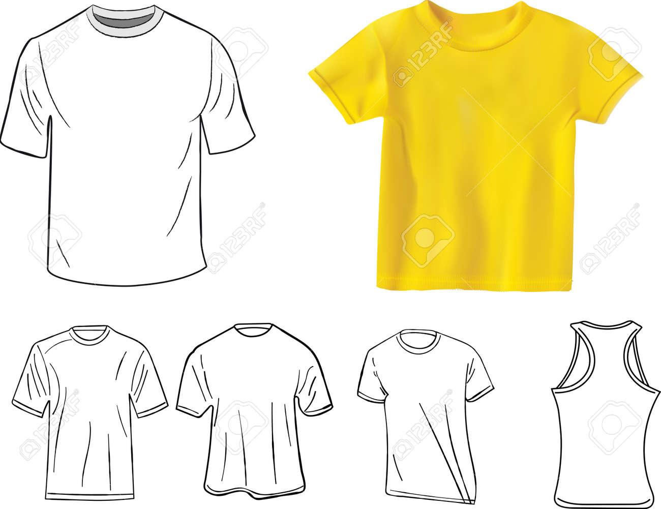 Conjunto De Plantilla De Diseño De Camiseta Ilustraciones ...