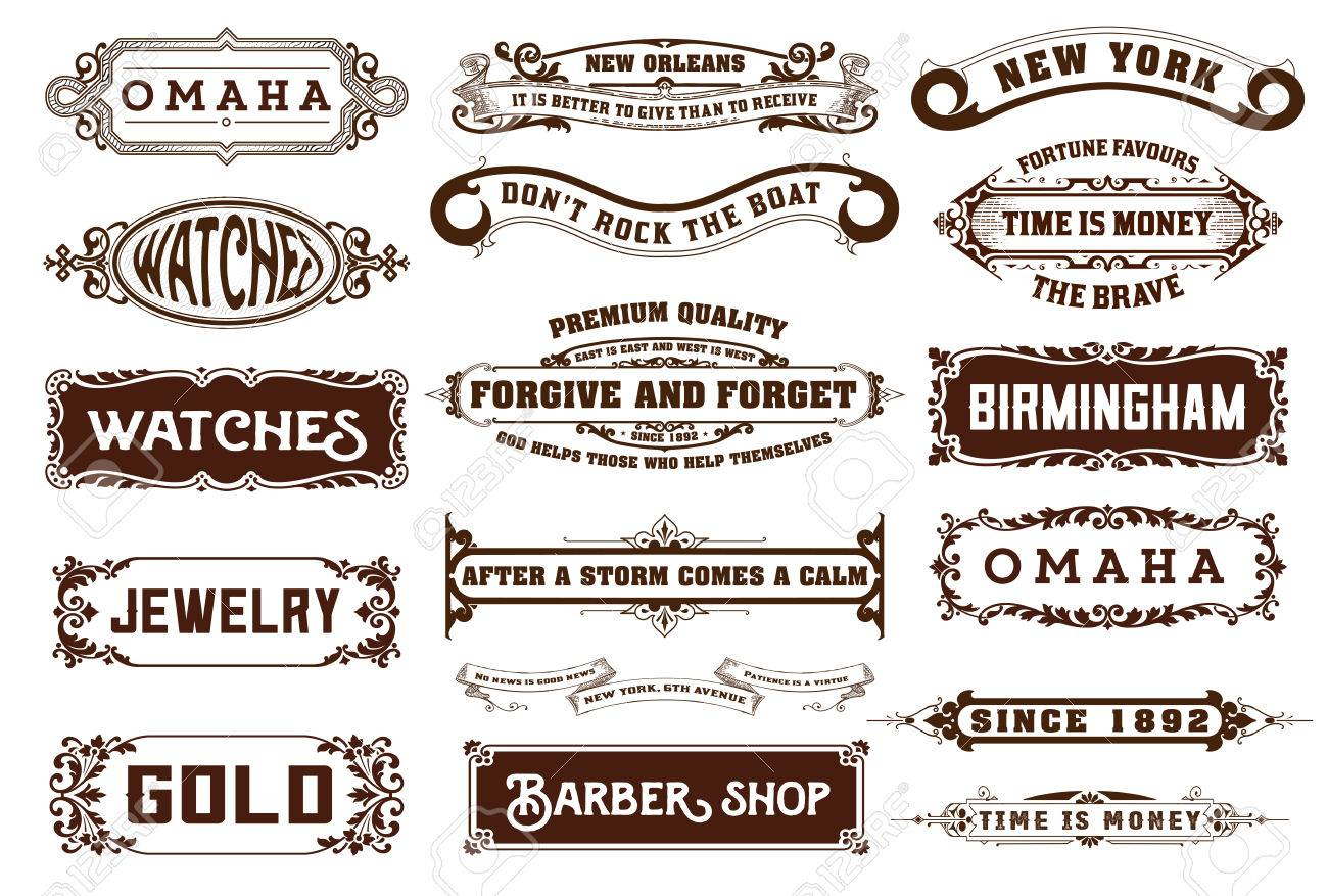 17 labels and banners vector royalty free cliparts vectors and rh 123rf com banner vector download banners vector vintage