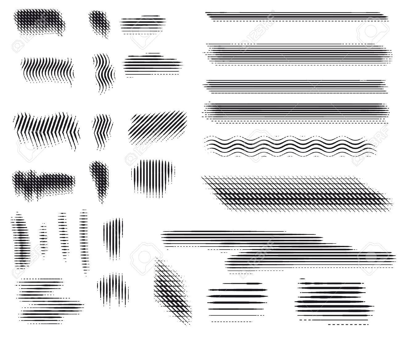 Vector  Engraving brushes set