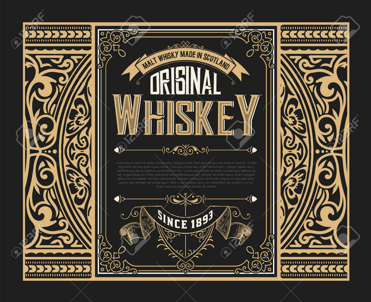old whiskey label royalty free cliparts vectors and stock