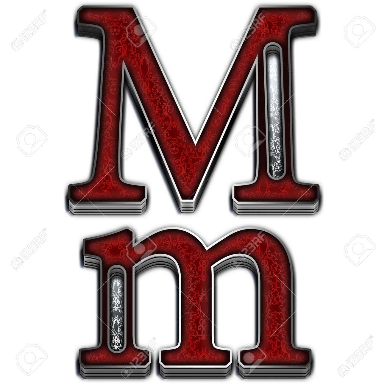Metal alphabet symbol for web or writing Stock Photo - 8510169