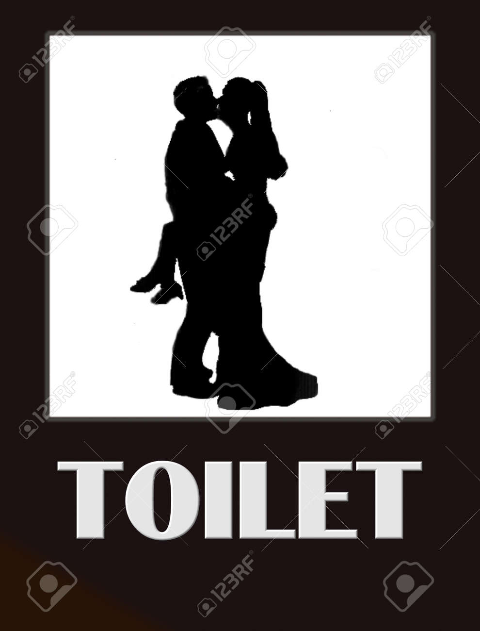 Bathroom Signs Male Female funny male and female bathroom sign black on white stock photo