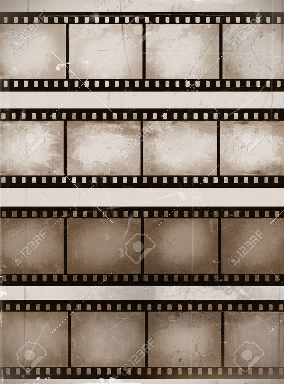 Vintage Scratched Seamless Film Strips Or Frame Collection Royalty ...