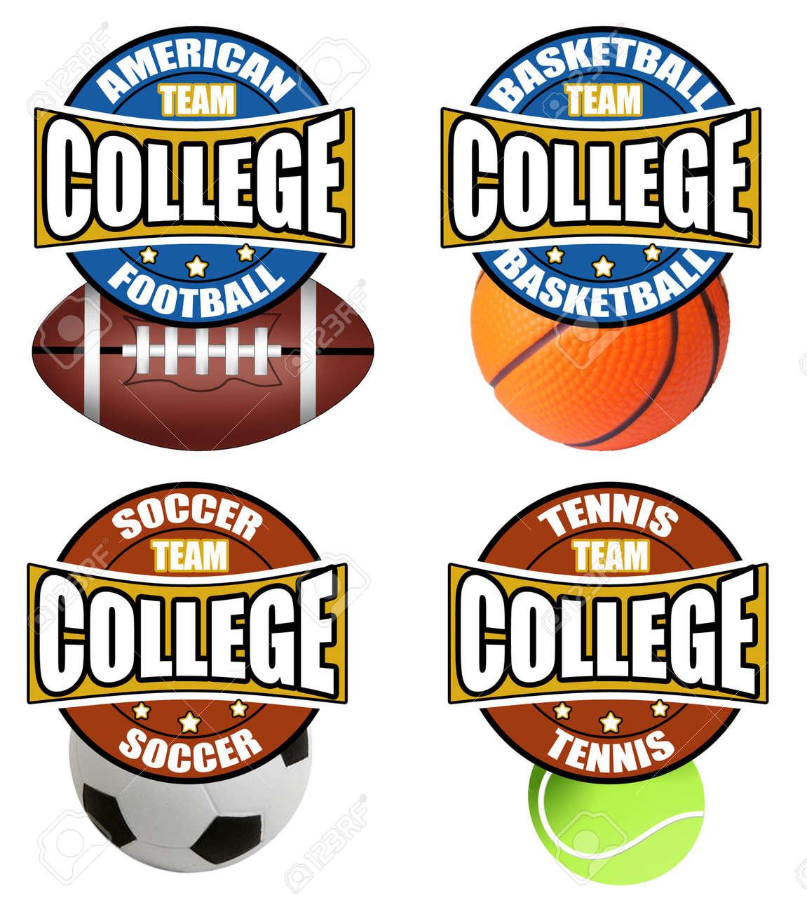 College Sport Stock Vector - 11550771