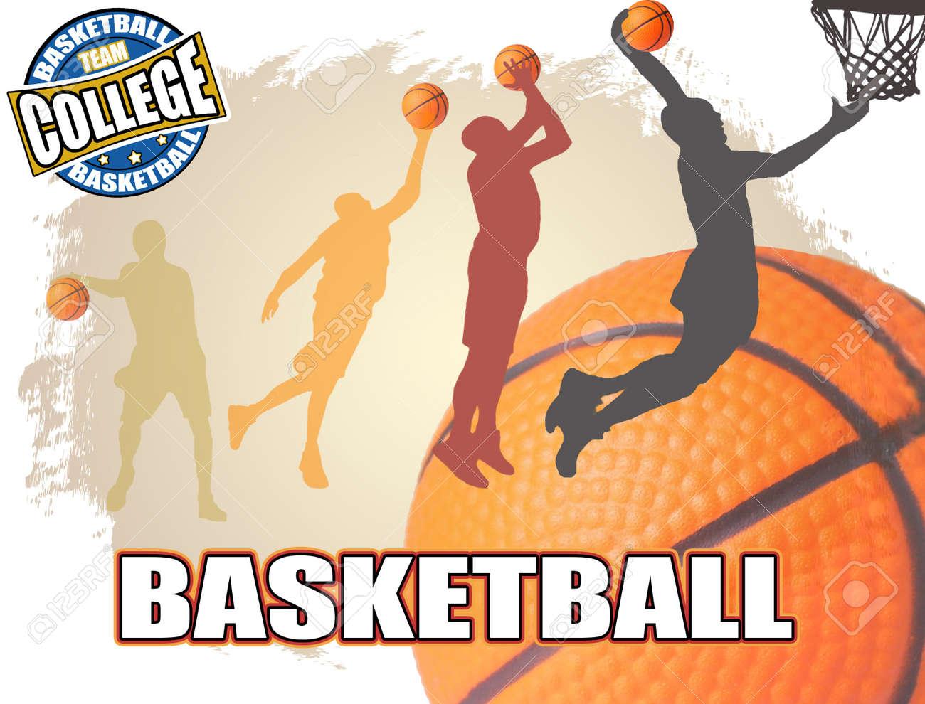 Basketball poster background, vector illustration Stock Vector - 11070980