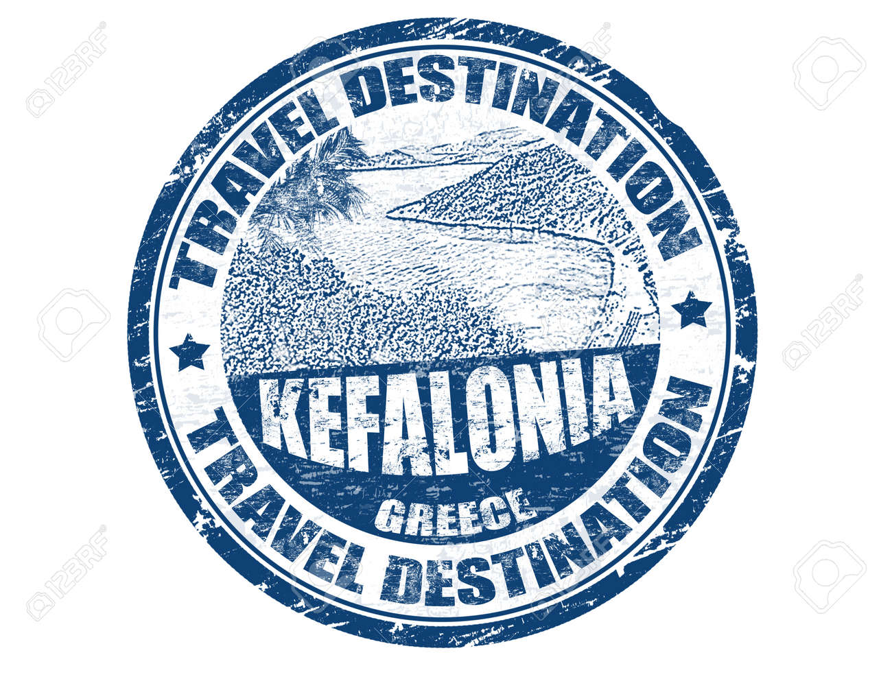 Grunge rubber stamp with the text travel destination Kefalonia inside, vector illustration Stock Vector - 13828757