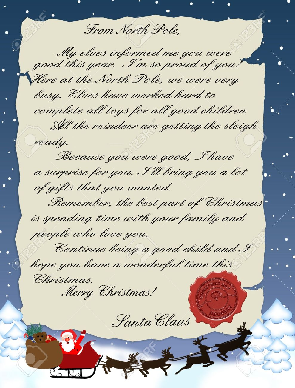 Illustration of a letter from santa claus royalty free cliparts illustration of a letter from santa claus stock vector 13936212 spiritdancerdesigns Images