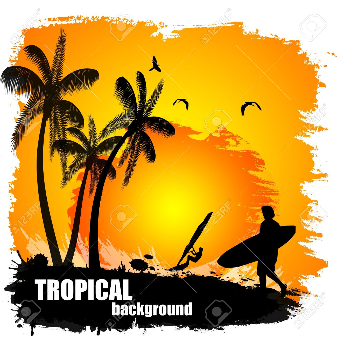 Tramonto tropicale