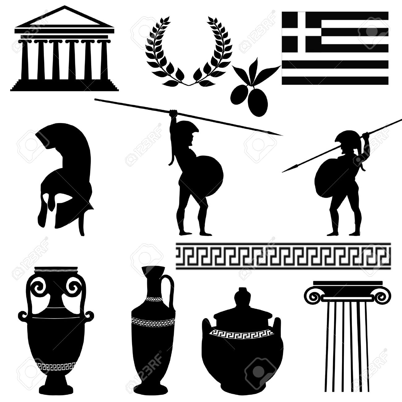 Traditional symbols of greece on white background royalty free traditional symbols of greece on white background stock vector 15924732 buycottarizona
