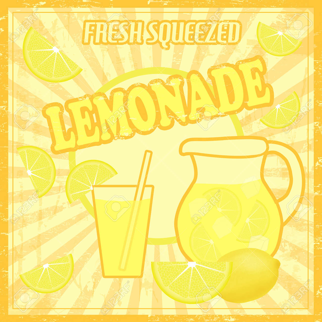 Lemonade Poster In Vintage Style Royalty Free Cliparts, Vectors ...