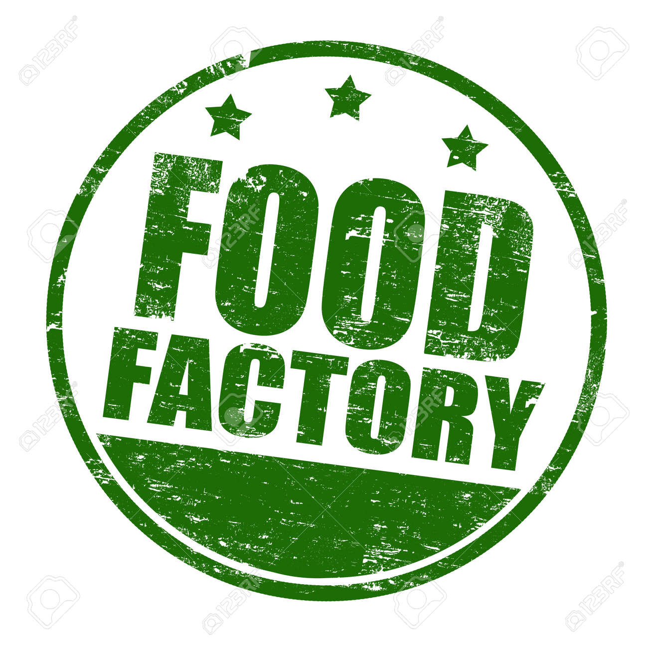 Food factory grunge rubber stamp, vector illustration Stock Vector - 18504360