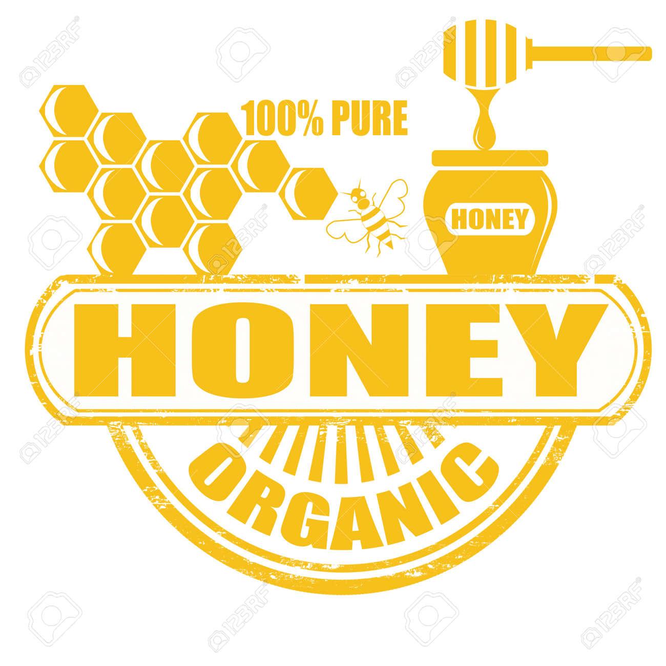 Honey grunge rubber stamp on white background, vector illustration Stock Vector - 19026248