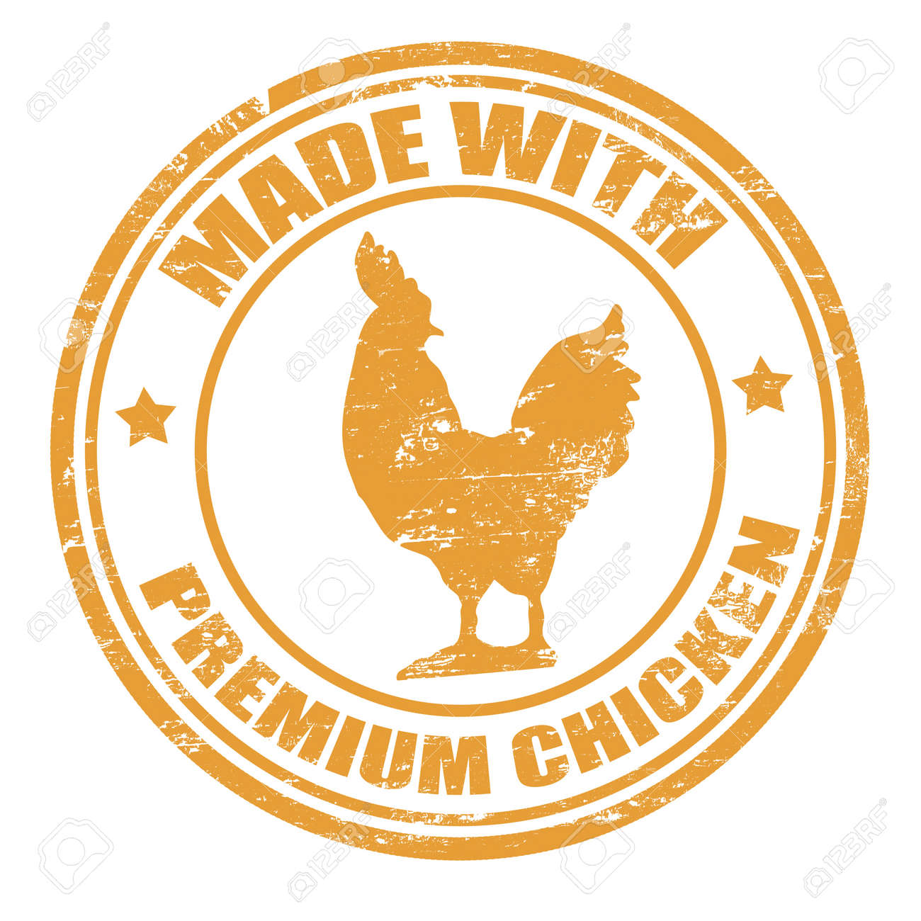 Grunge Office Rubber Stamp With The Text Made Premium Chicken Written Inside Stock Vector