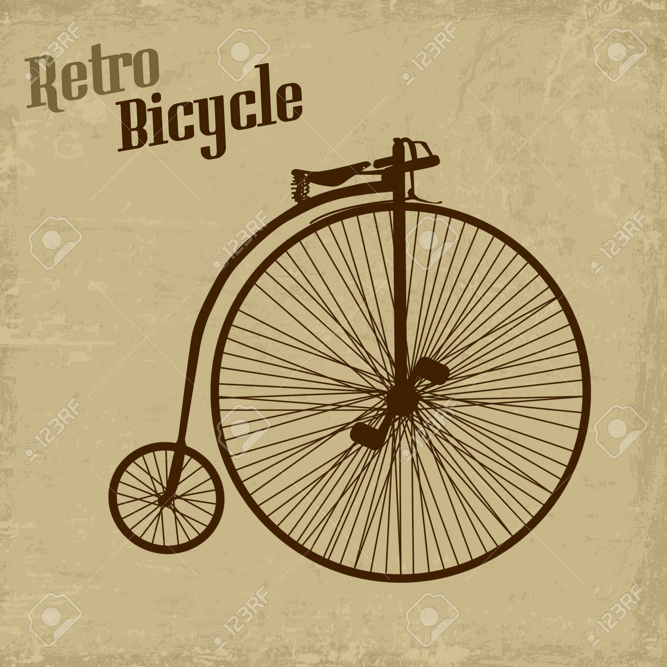 Bicycle vintage grunge poster, vector illustration Stock Vector - 19299180